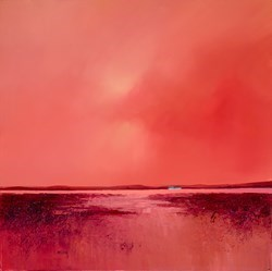 Coral Meadow by Barry Hilton -  sized 24x24 inches. Available from Whitewall Galleries
